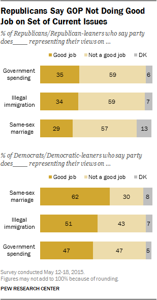 Republicans Say GOP Not Doing Good Job on Set of Current Issues