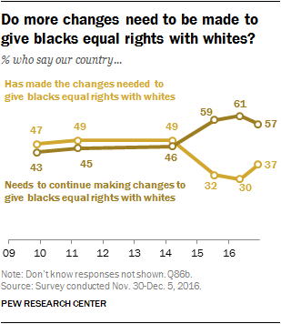 Do more changes need to be made to give blacks equal rights with whites?