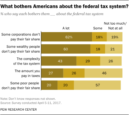 What bothers Americans about the federal tax system?