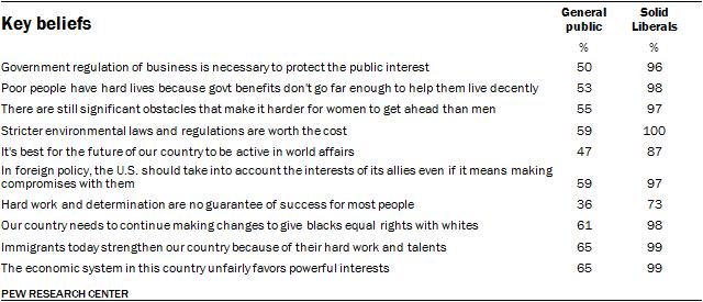 Key beliefs, Solid Liberals