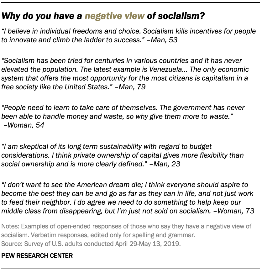 Why do you have a negative view of socialism?