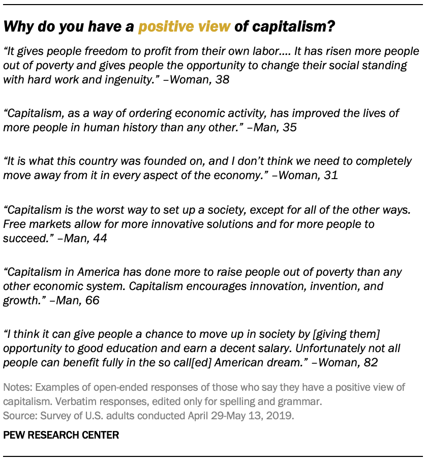 Why do you have a positive view of capitalism?